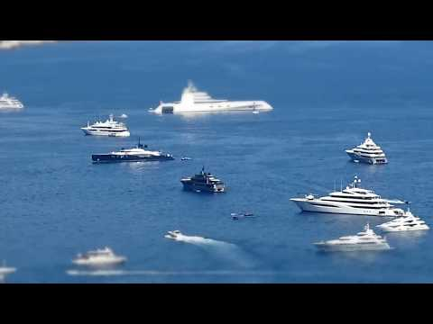 Yachts at the Monaco Grand Prix 2017 (Time Lapse)