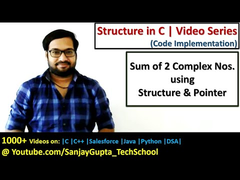 Sum of two complex numbers using structure and pointer in c programming | by Sanjay Gupta