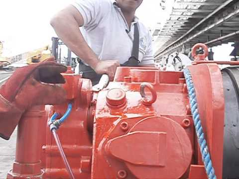 10 ton air tugger winch used in Philippines offshore, lindal