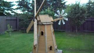 Wooden Homemade Garden Windmill By Laszlo