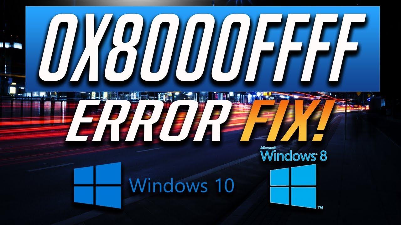 Fix Windows Update Error 0x8000ffff in Windows 10/8 [3 Solutions] 2019 by  TechFixIT