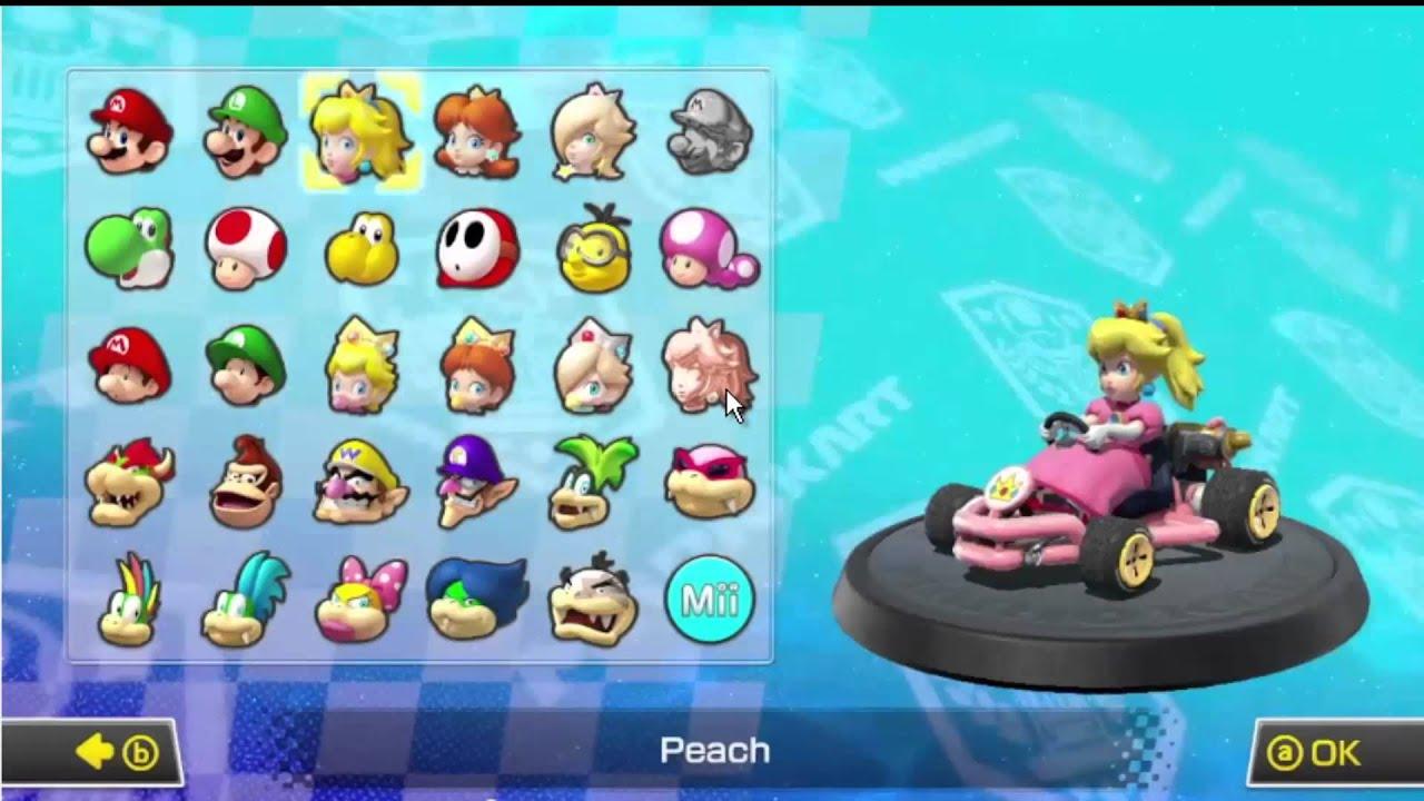 Driver Stats Mario Kart Wii