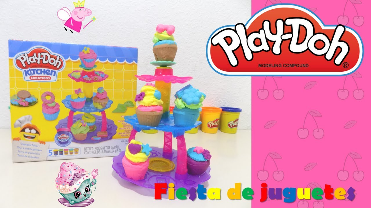 torre de cupcakestorre de pastelitos play doh kitchen creations cupcakes de playdoh - Kitchen Creations
