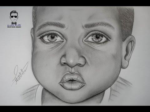 تعليم رسم طفل ببشرة سمراء بالرصاص خطوة بخطوة Youtube