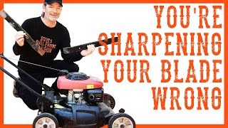 How Do I Properly Sharpen and Balance a Lawn Mower Blade?
