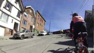bicycling up Potrero Hill and descending the crookedest street in San Francisco