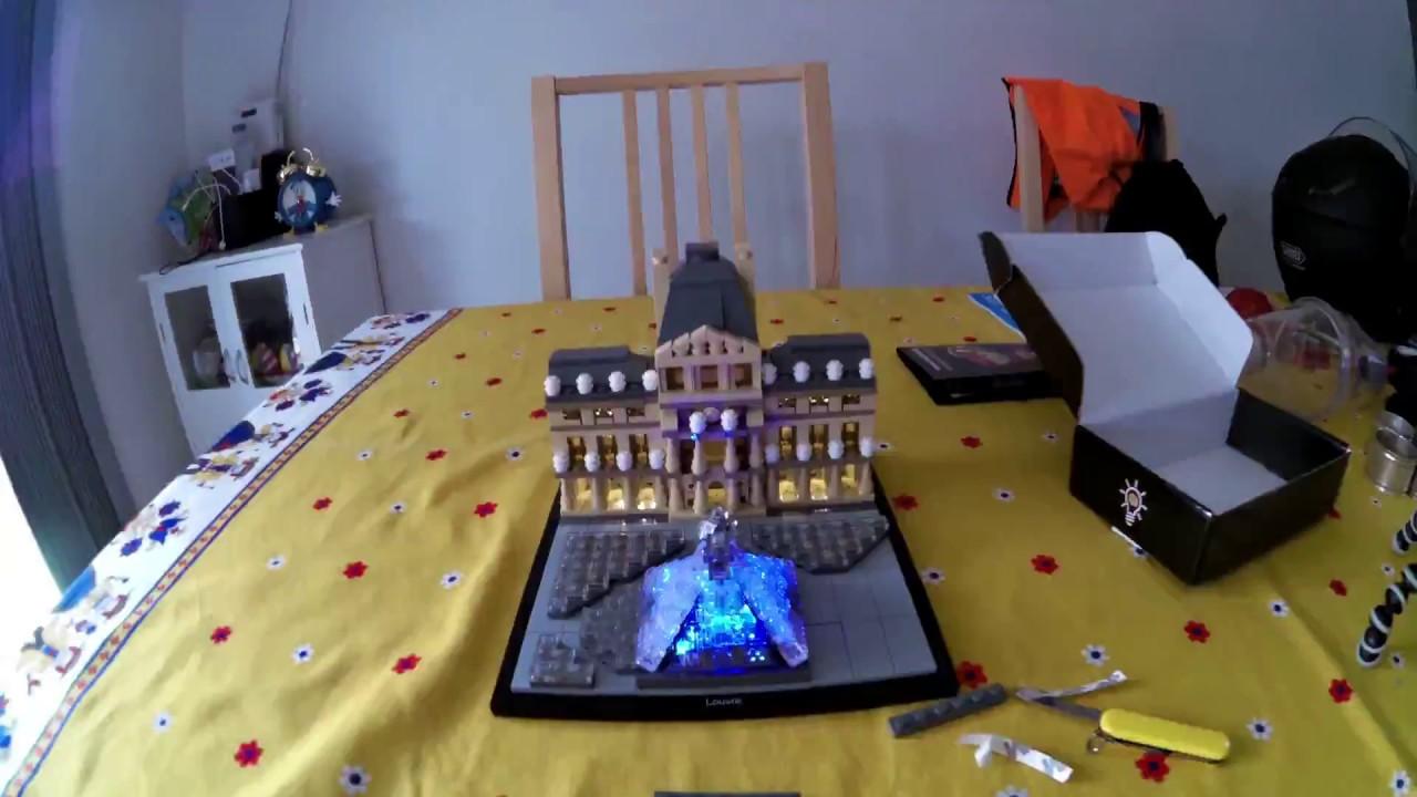 Lego louvre light my bricks install time lapse youtube