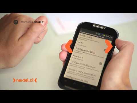 MOTOROLA MASTER TOUCH - Conectarse a una red wifi