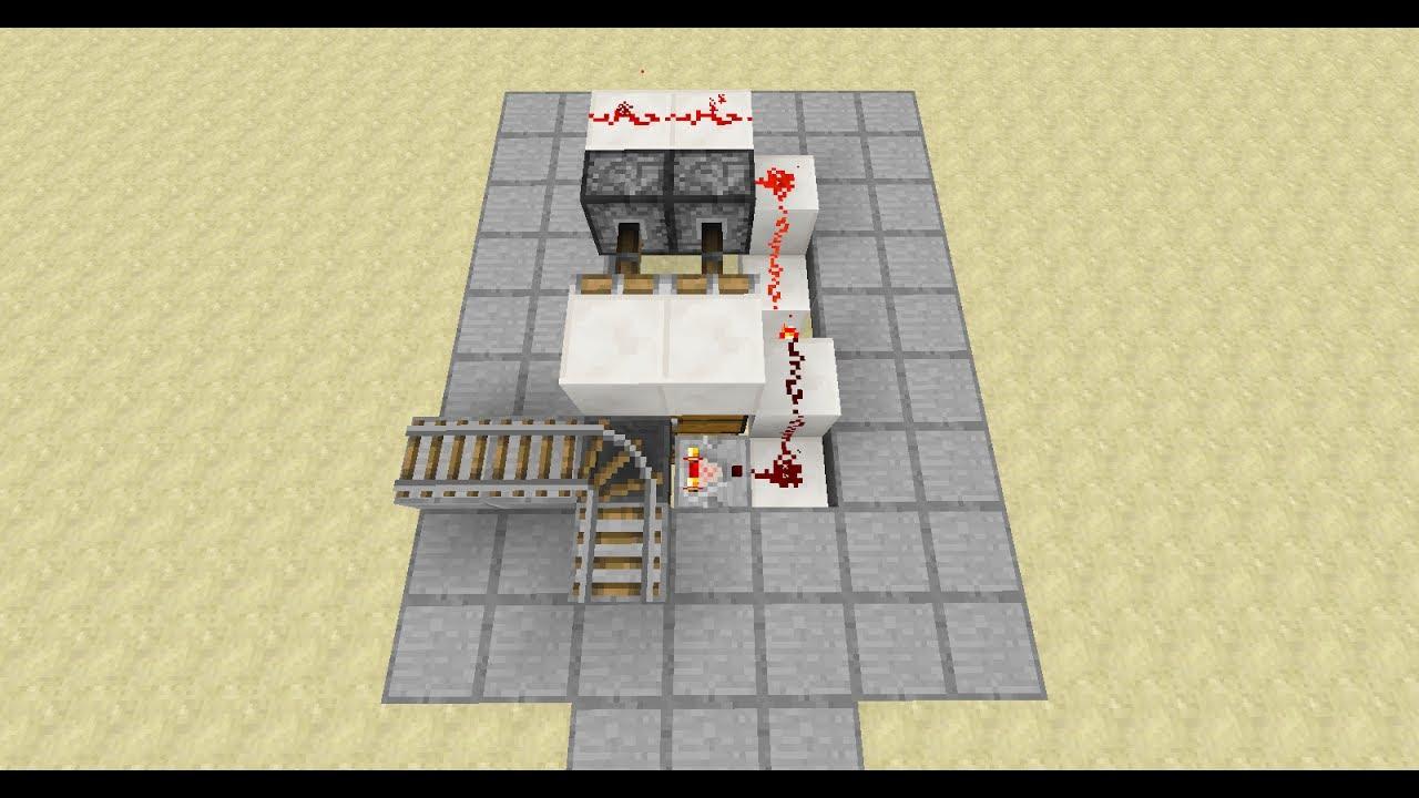 Automatisches KistenLagerungssystem Minecraft Redstone - Minecraft nutzliche spielerkopfe