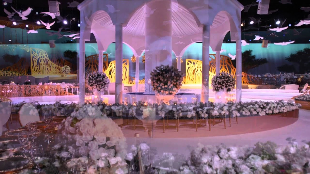 Video Mapping Wedding In International Exhibition Centre Doha Qatar By Olivier Dolz Planner