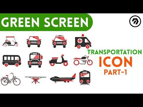 Green Screen Transportation Icon Part 1 | mrstheboss