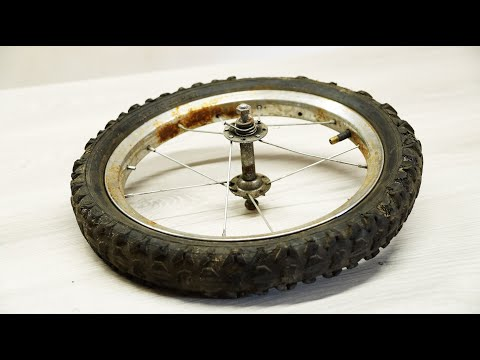 Don't even think about throwing away your old bicycle wheel!!! thumbnail