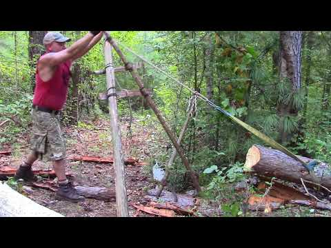 Mechanical Advantage Of A Paring Ladder To Move Logs Uphill