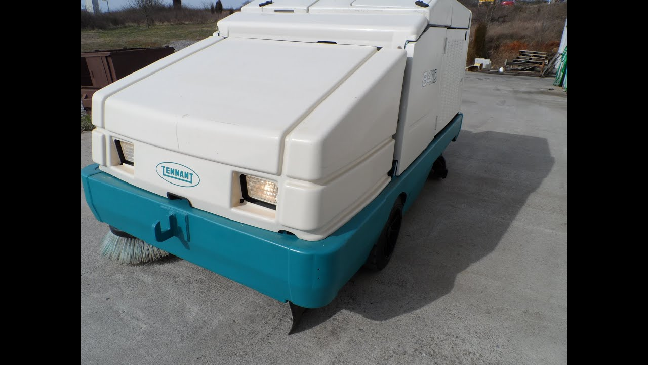2002 tennant 8410 sweeper scrubber work mode youtube for Floor zamboni