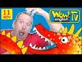 Zoo Animals, Ghosts And Scary Monsters For Kids From Steve And Maggie   Free Stories Wow English Tv