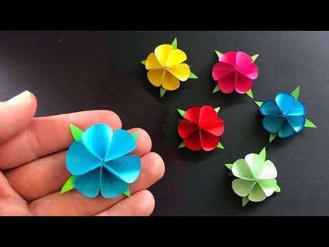 Basteln Mit Papier Blume Als Geschenk Selber Machen Origami