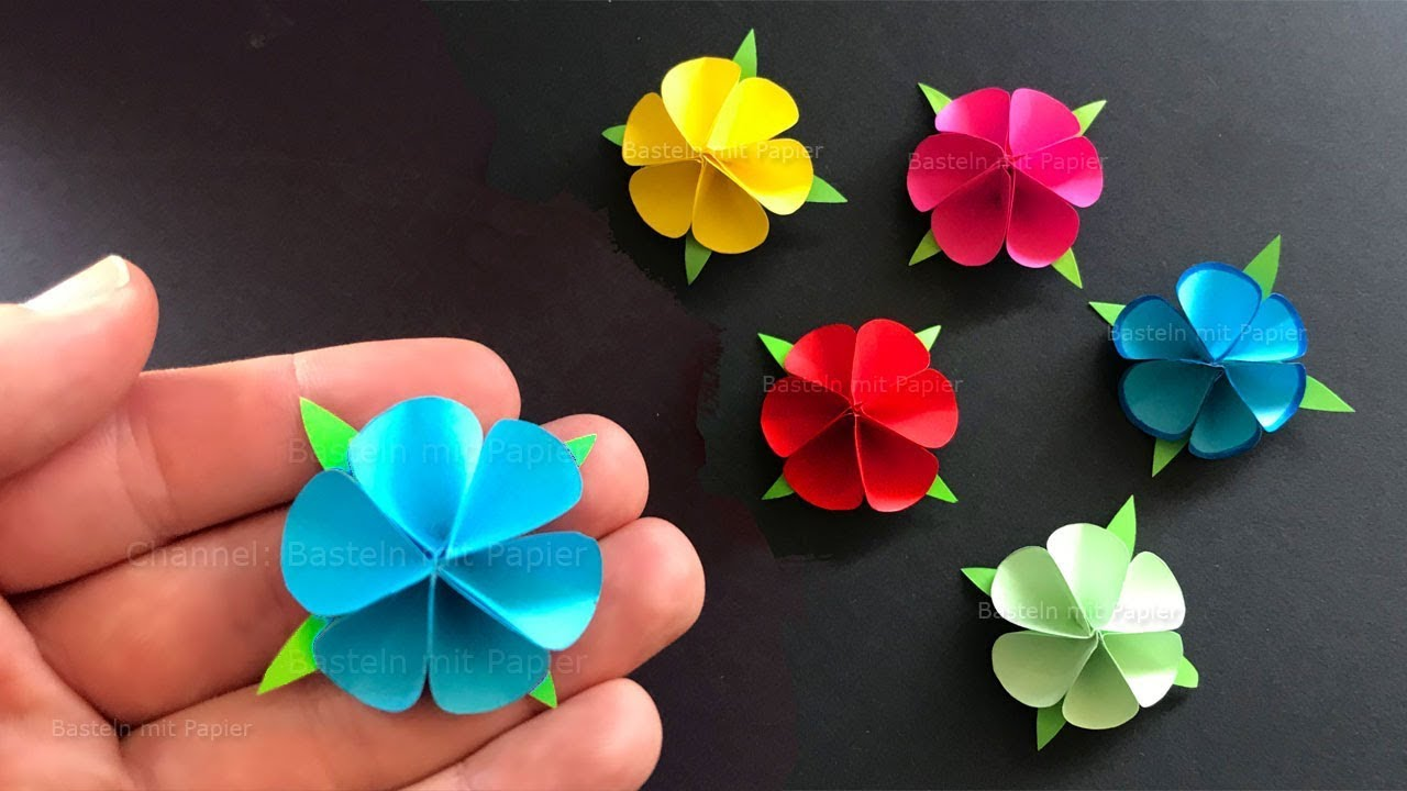 Was Basteln Paper Flowers Using Origami Paper Tiny Paper Flowers Diy Mother S Day Gift