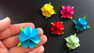 Paper Flowers using Origami paper 🌸 Tiny paper flowers - DIY Mother's day Gift
