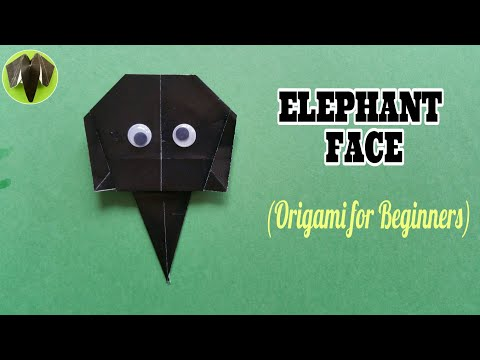 Elephant Face - DIY Origami Tutorial by Paper Folds for Beginners - 742