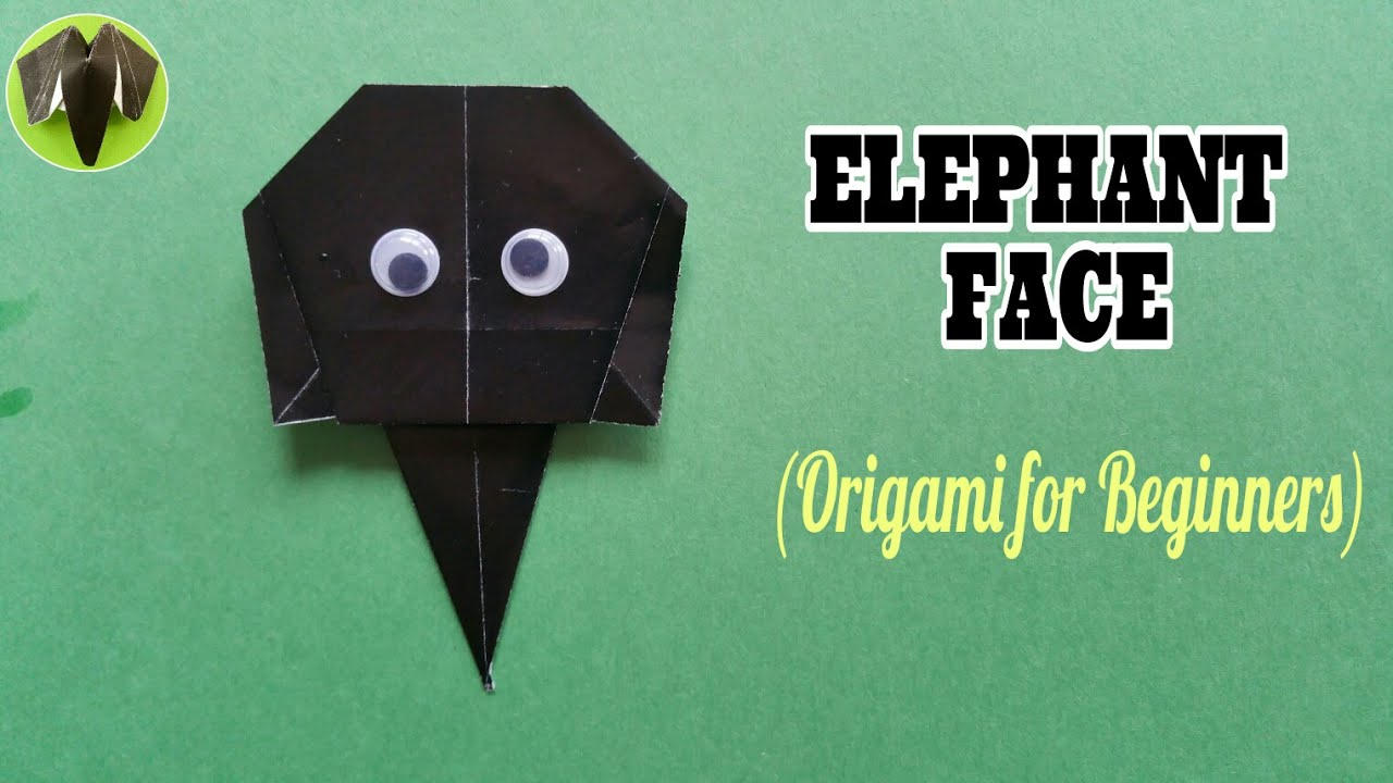 how to make a paper elephant face