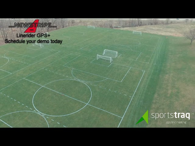 Athletic complex GPS field layout w/ the Newstripe LineRider GPS+ Line Striper