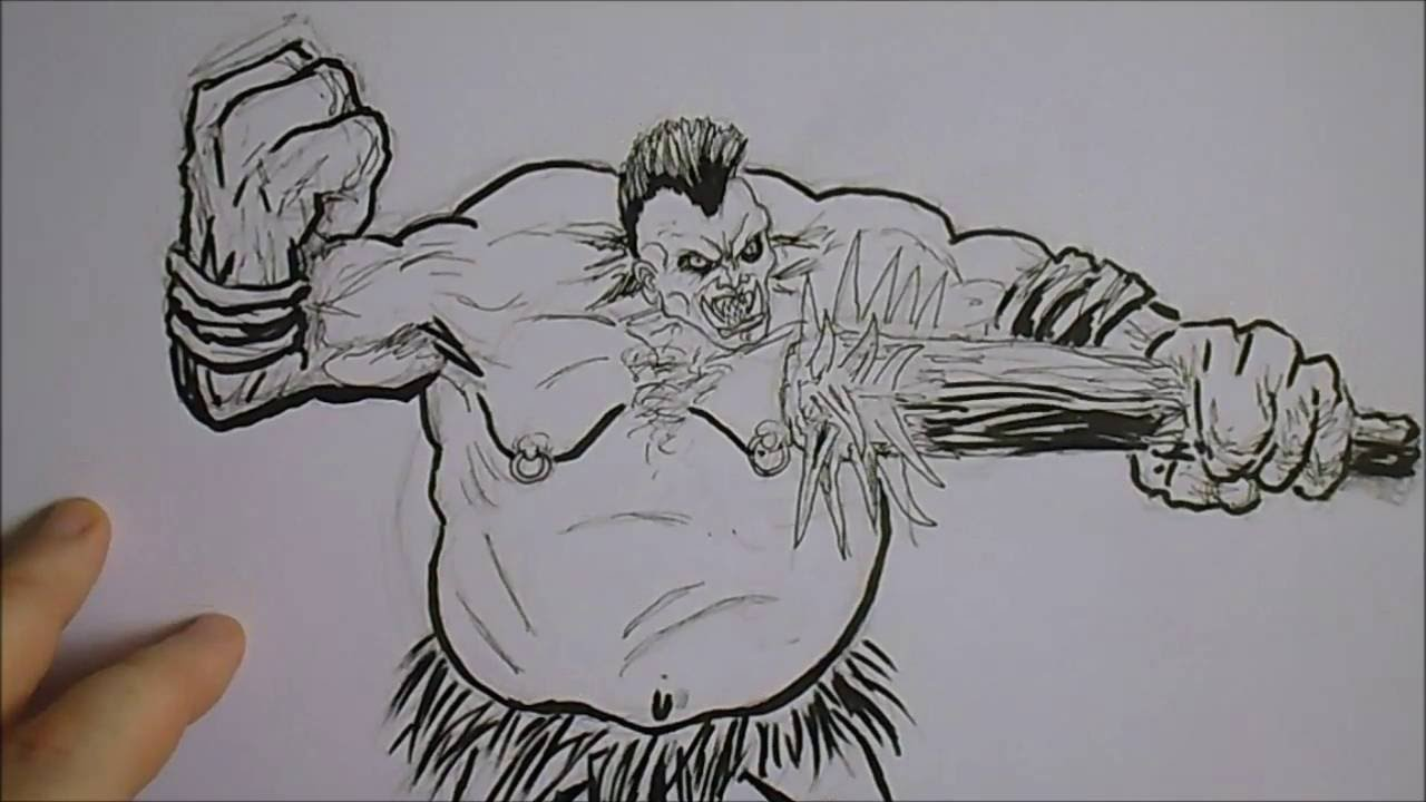 sketching a troll ogre creature youtube