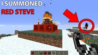 How to Summon RED STEVE in Minecraft (Do NOT Try This!)
