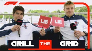Williams' Lance Stroll And Sergey Sirotkin | Grill The Grid: Truth Or Lie?
