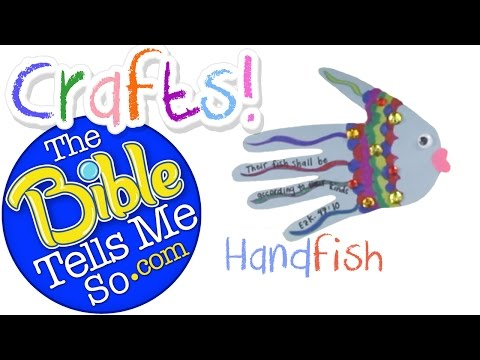 The Bible Tells Me So - Bible Craft-  Fish Hand