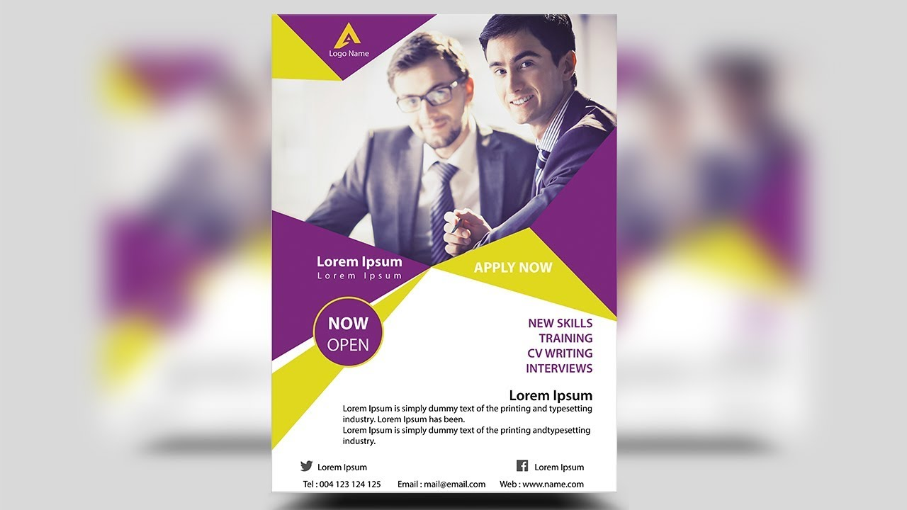 creative corporate flyer design photoshop tutorial youtube