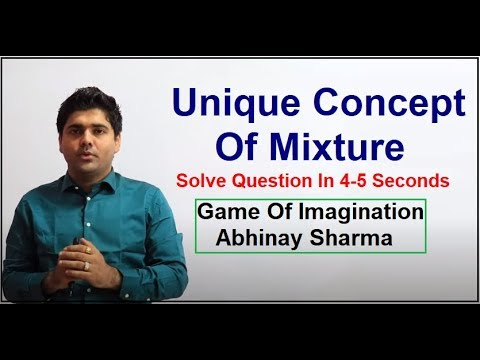 Unique Concept Of Mixture | Solve Question In 4-5 Seconds | Game Of Imagination By Abhinay Sharma