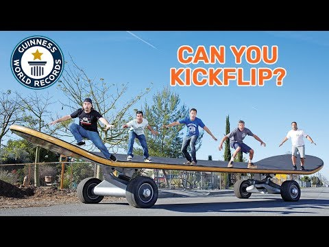 World's largest skateboard - Guinness World Records