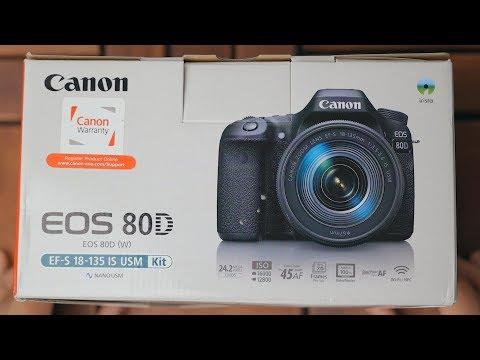 أشهر كاميرا من كانون بين اليوتيوبرز والفلوجرز Canon EOS 80D Unboxing & Specs
