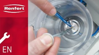 Renfert Maintenance | Sandblasters: Cleaning the dispensing nozzle