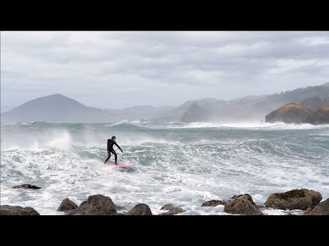 SURFING in a WIND STORM