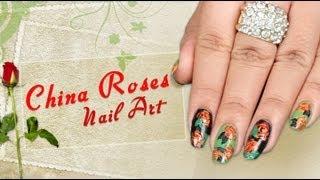 China Rose Nail Art Design - Do it Yourself | KhoobSurati.com
