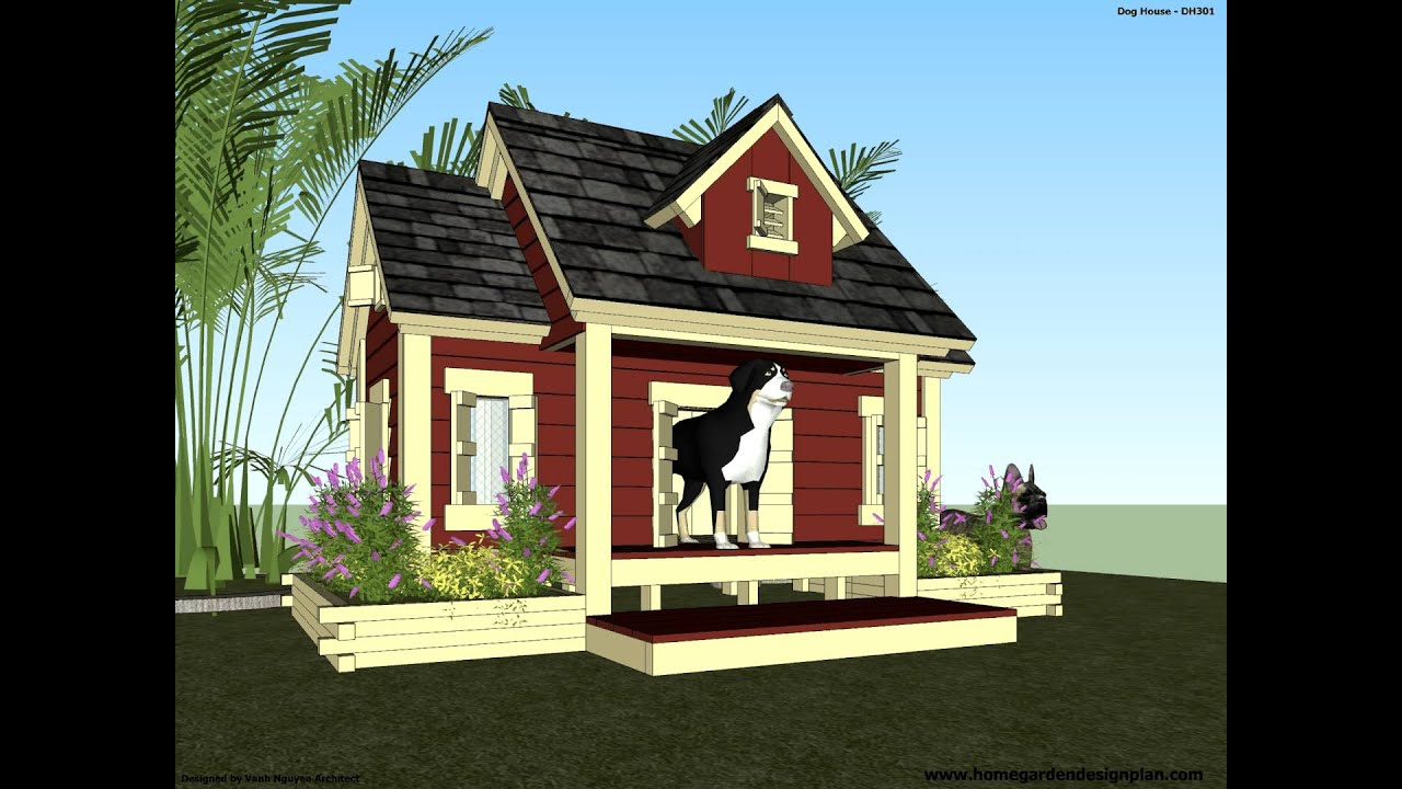 dh301 how to build an insulated dog house dog house plans youtube
