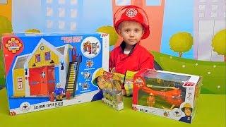 Пожарный Сэм с базой и спасатель Том с вертолётом  Fireman Sam and Mountain Rescue Helicopter