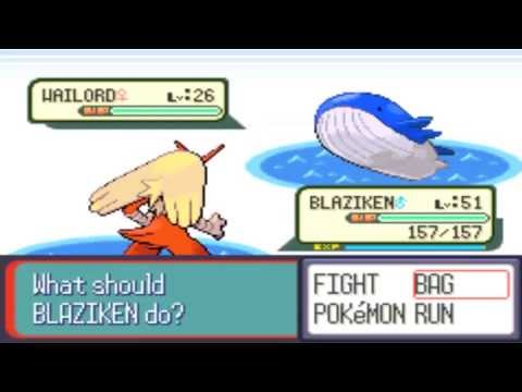 Where To Capture-Catch Wailord In Pokemon Emerald, Ruby, Sapphire