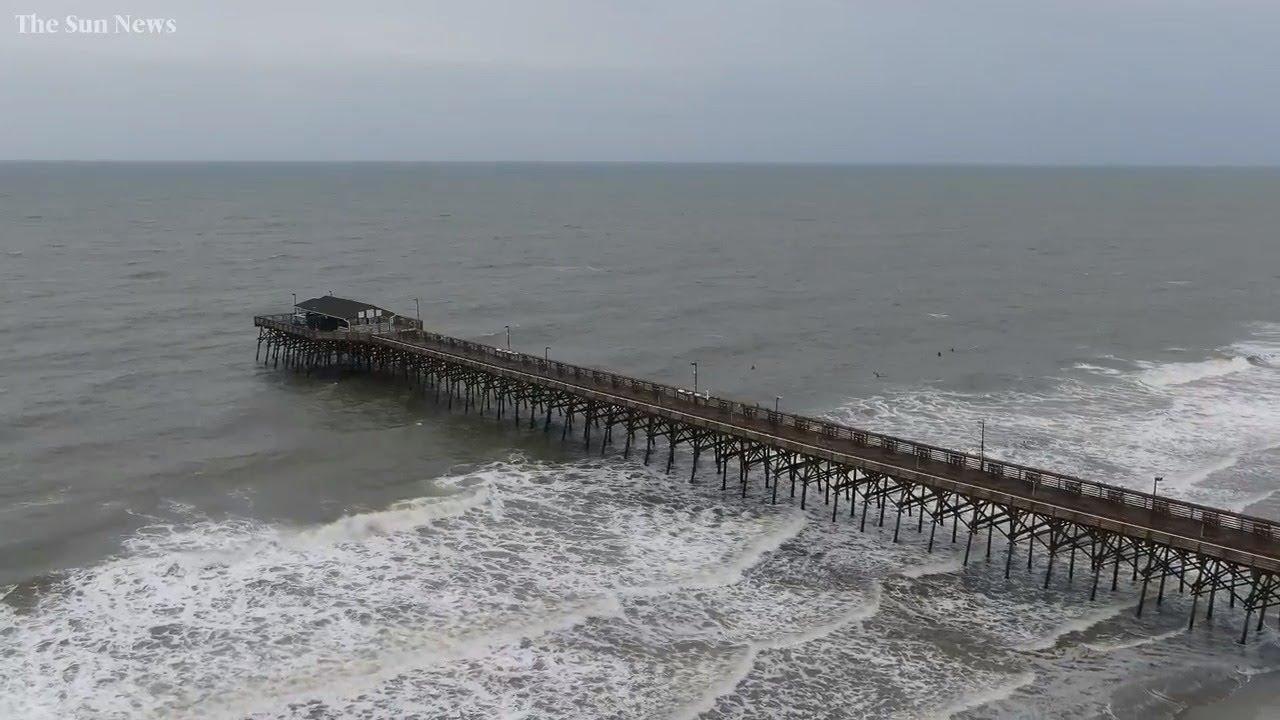 A look above Garden City Beach, S.C. ahead of Hurricane Dorian