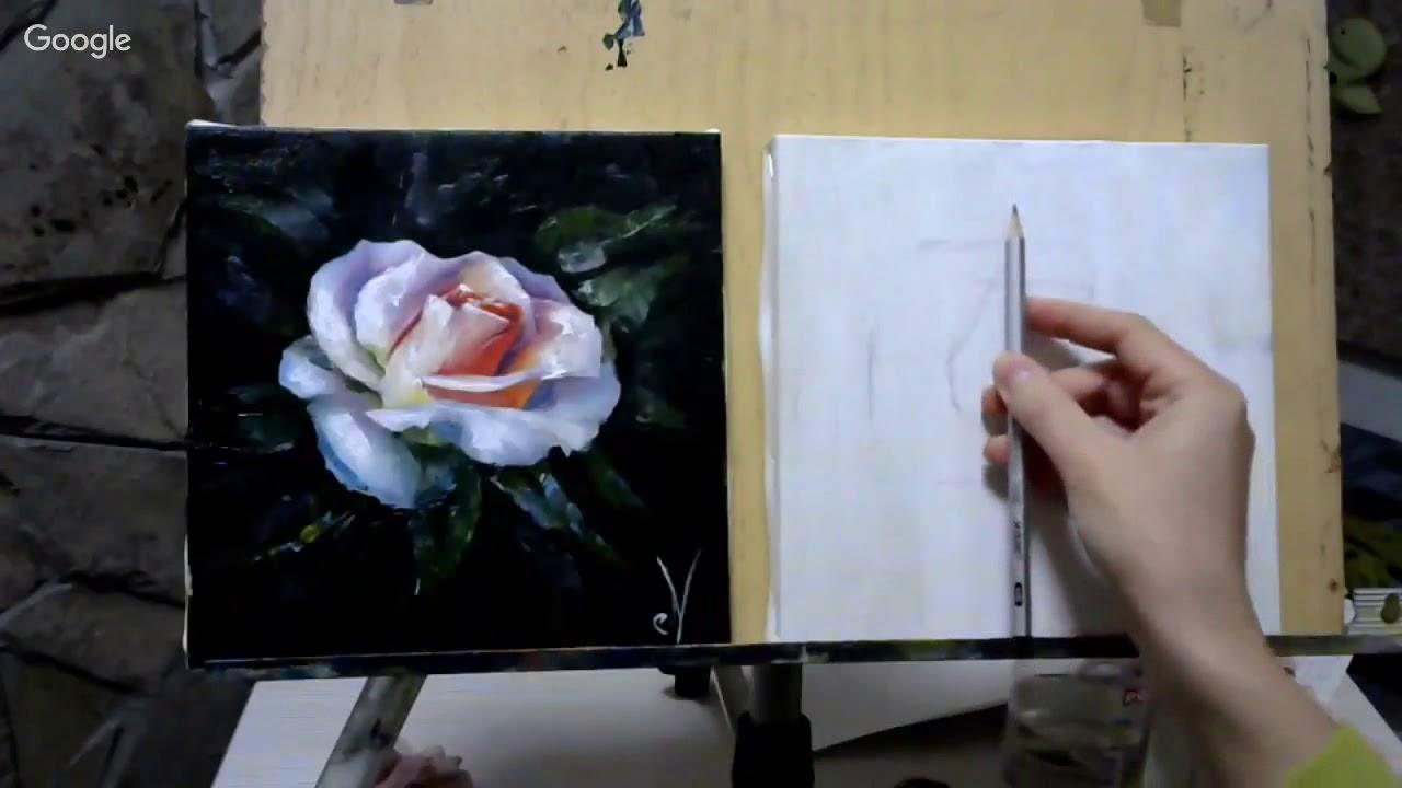 установило, видео как художник рисует розу на русском одних супружеских пар