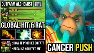 EPIC 9000 MMR Offlane Nature Prophet Global Hit & RAT Strategy Outfarm Alchemist with 900 GPM DotA 2