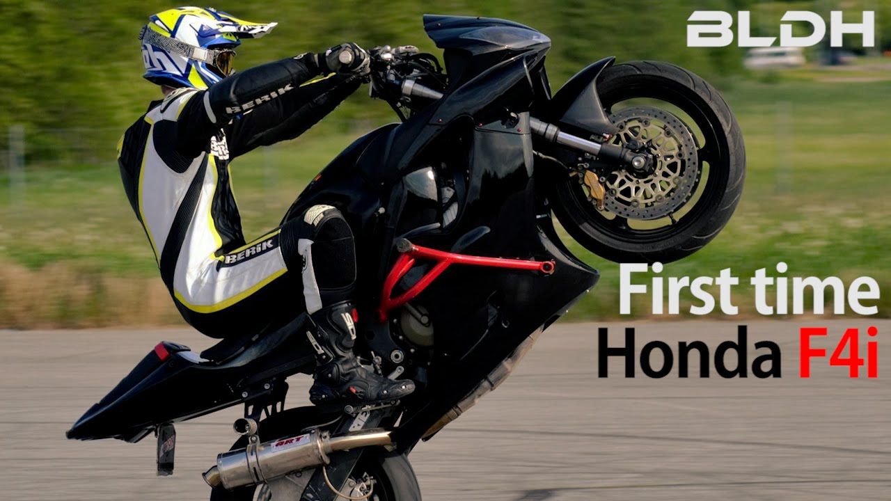 2016 Honda Rebel >> First time on a stunt bike | Honda CBR 600 | BLDH - YouTube