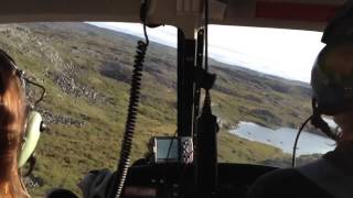 Crazy Helicopter Flying In Arctic, Nunavut