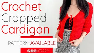 Crochet Cropped Cardigan | Pattern & Tutorial DIY