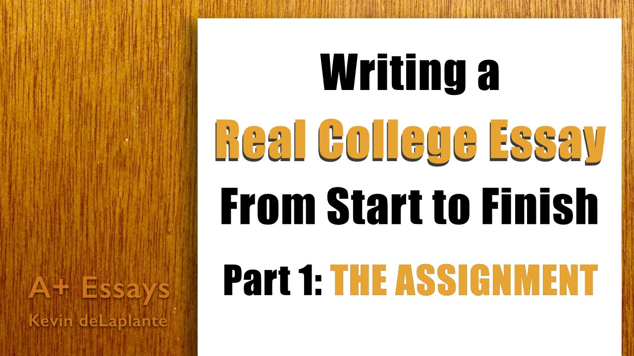how to write a college level essay