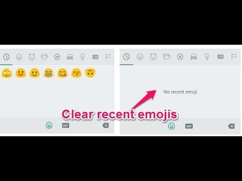 Very Easy And Interesting Way To Delete Emoji History In Whatsapp Youtube