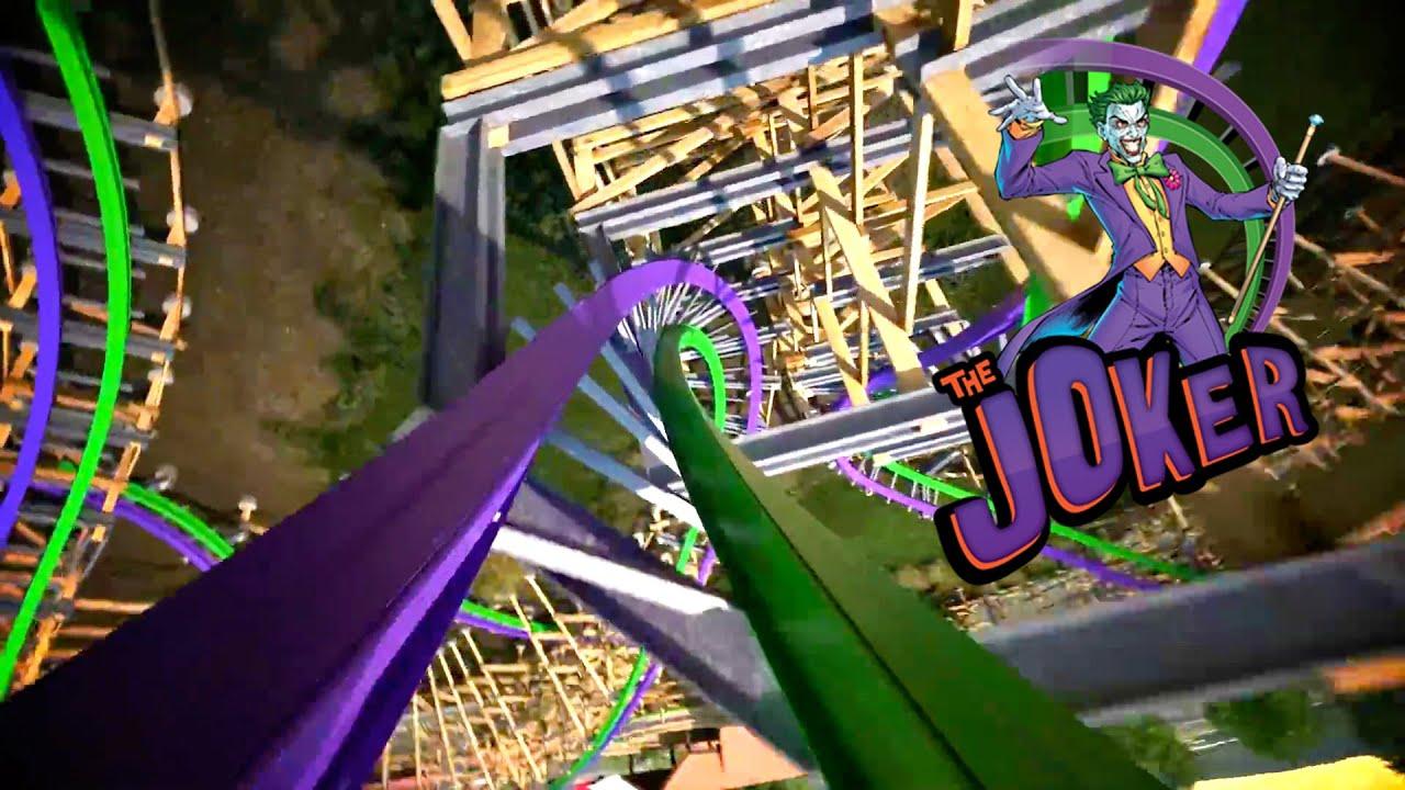 The Joker Roller Coaster Full POV Six Flags Discovery Kingdom 2016 ...