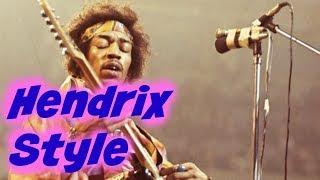 Jimi Hendrix signature style pentatonic riffs