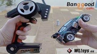 Carrinho de Controle Remoto 1/28 2.4g 4WD RC Rally WLtoys K989 - Brinquedos